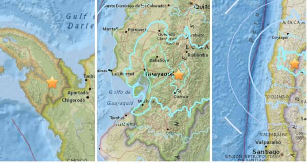 Cadena de temblores sorprenden a Panamá, Ecuador y Chile en menos de una hora   Noticias de Buenaventura, Colombia y el Mundo