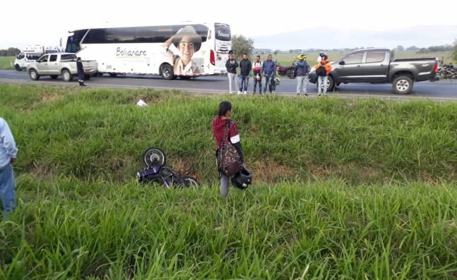 Un motociclista fue asesinado con arma de fuego en la vía Buga - Guacarí