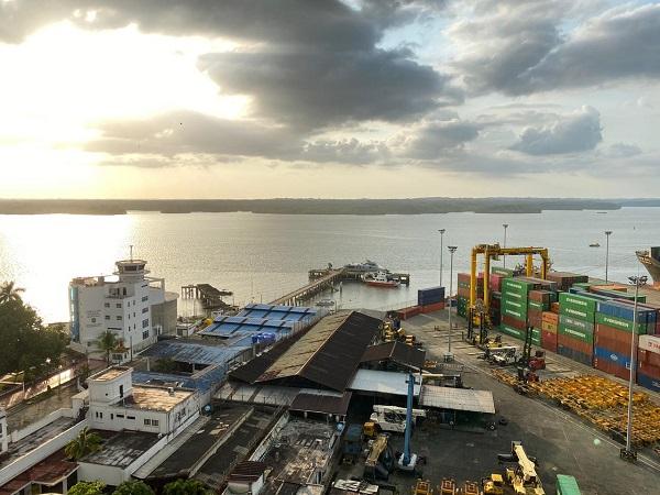 Vista aérea Puerto de Buenaventura