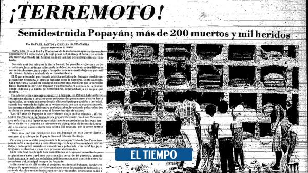 Se cumplen 37 años del terremoto que destruyó Popayán en 1983 - Cali - Colombia