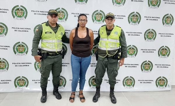 Una mujer fue capturada en una vía pública del barrio la Gran colombiana