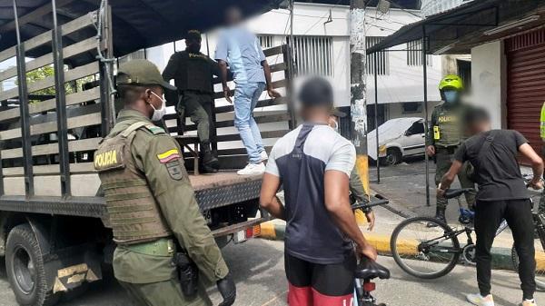 Sancionados en buenaventura por violar aislamiento preventtivo