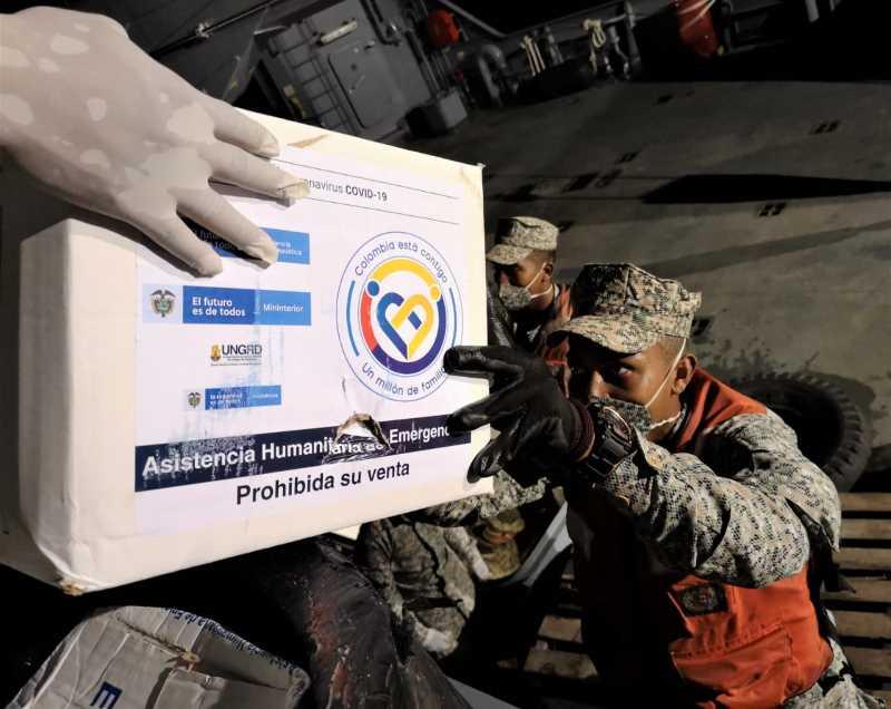 Armada de Colombia llevó más de 140 toneladas de ayudas humanitarias al litoral San Juan, Docordó y Pizarro
