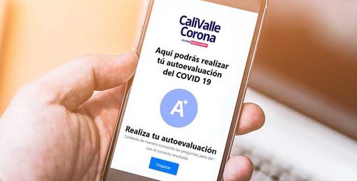 Los vallecaucanos cuentan con 'CaliValleCorona', la App que les permitirá realizar una autoevaluación sobre Covid-19