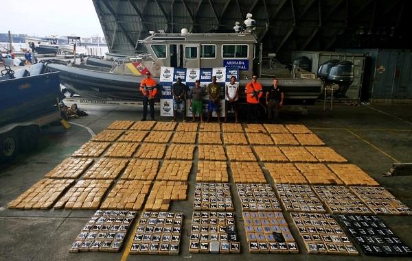 capturados con una tonelada de narcoticos en buenaventura