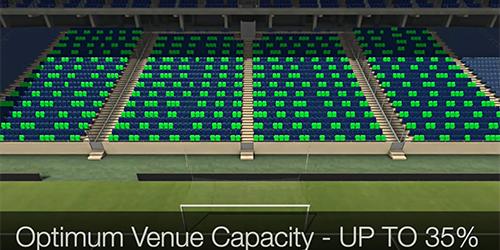 El sistema de selección de asientos de 3D Digital Venue. Foto: Innovadores