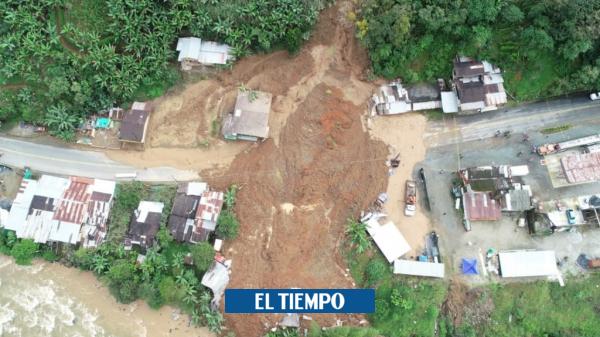 Derrumbe afecta cinco casas y aísla a pacientes de Tumaco - Cali - Colombia