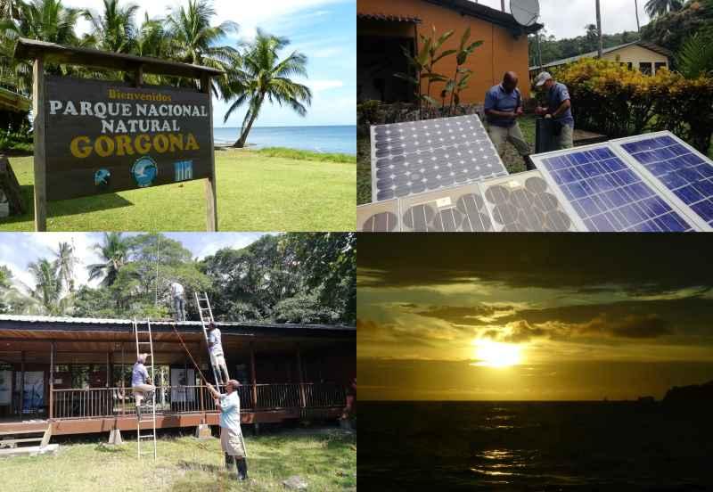 El Parque Nacional Natural Gorgona implementa sistema de paneles solares