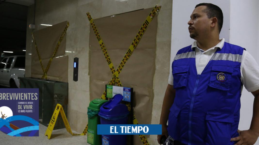 Sobreviviente de desplome de ascensor en Palacio de Justicia de Cali - Cali - Colombia