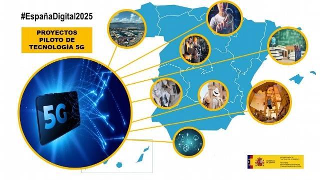 Mapa de nuevos proyectos 5G en España