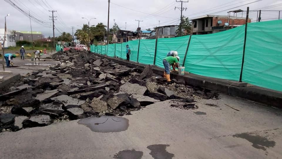 Por falta de permisos, detienen obras en la Avenida Simón Bolívar en el tramo SENA - San Luis | Noticias de Buenaventura, Colombia y el Mundo
