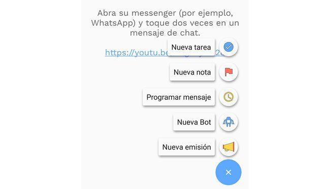 Así podrás programar un mensaje presionando el símbolo