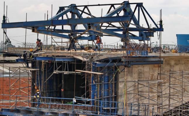 Así van las obras en el puente de Juanchito