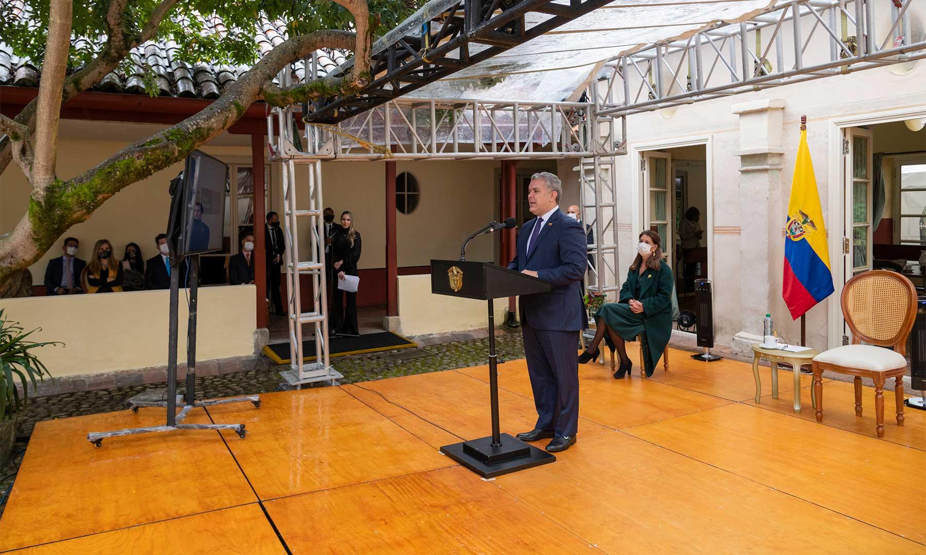 cumplir, departamentos, Ruta Libertadora, Presidente Iván Duque, reafirmación, Pacto Bicentenario, Quinta de Bolívar, festividad