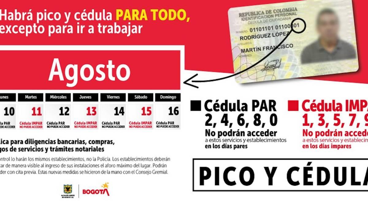 Pico y Cédula en Bogotá - Coronavirus en Colombia
