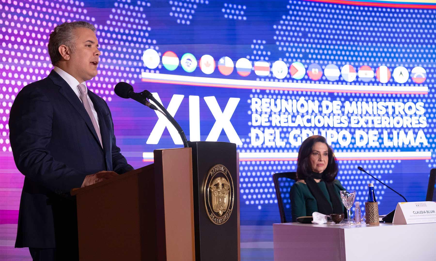 instalación, XIX Reunión de Ministros de Relaciones Exteriores, Grupo de Lima, democracia, dictadura, diplomacia, libertad, Vene