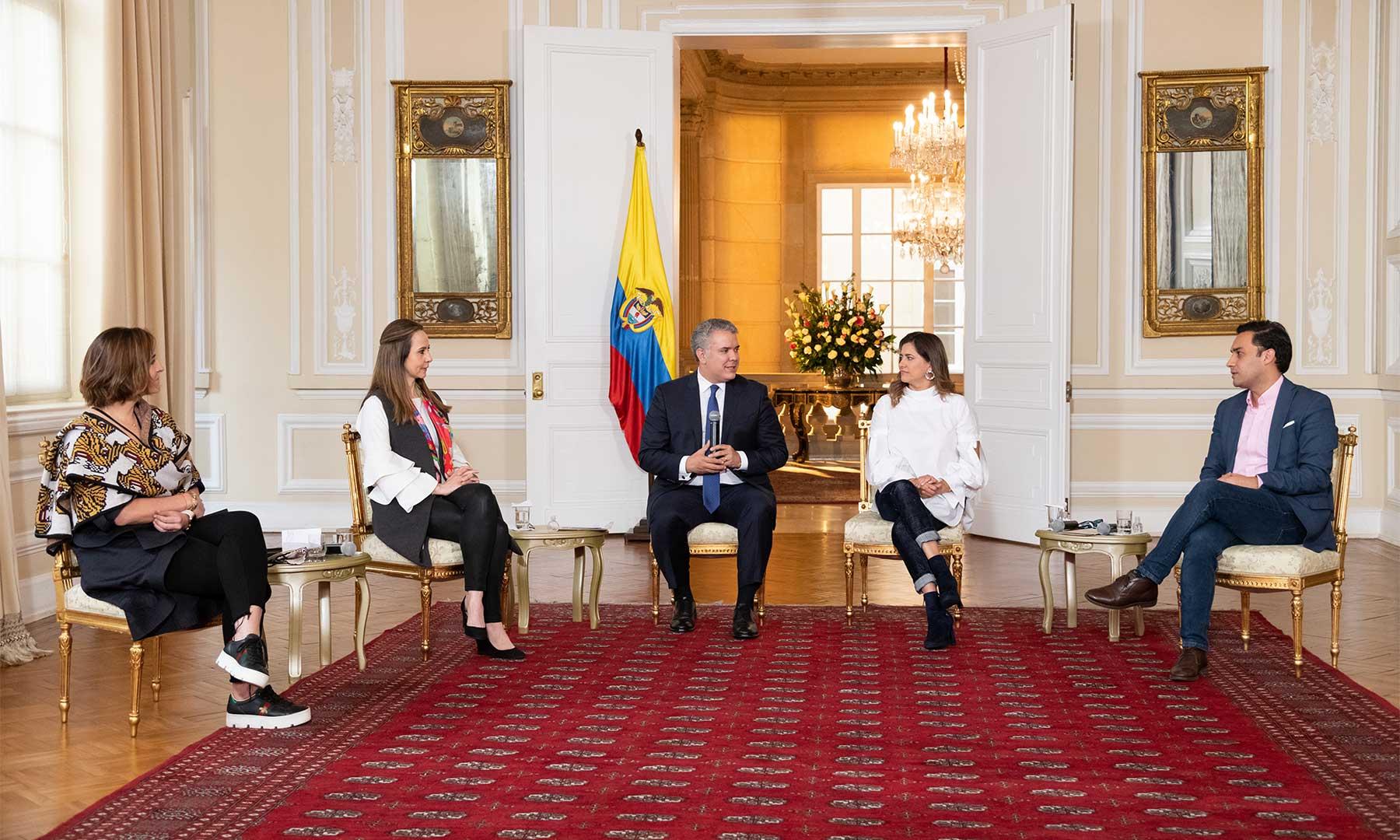 Presidente Iván Duque, Primera Dama, María Juliana Ruiz, Día Internacional de la Juventud, Carolina Salgado, Juan Sebastián Aran