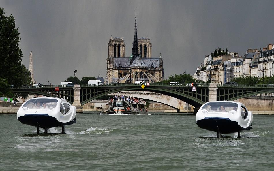 Tecnología con sello valenciano en el hidrotaxi volador que ha conquistado París
