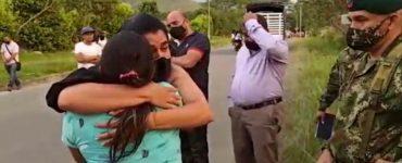 Así fue el encuentro entre la familia de Juliana Giraldo y la del soldado que le disparó - Cali - Colombia