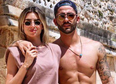 """Luis """"Potro"""" Caballero, de Acapulco Shore, y su novia, Estefanía Ahumada, de Guerreros 2020, en Uxmal (IG: luis_acashore)"""