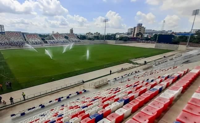 Listos los protocolos en el estadio Romelio Martínez para el duelo entre Junior y América