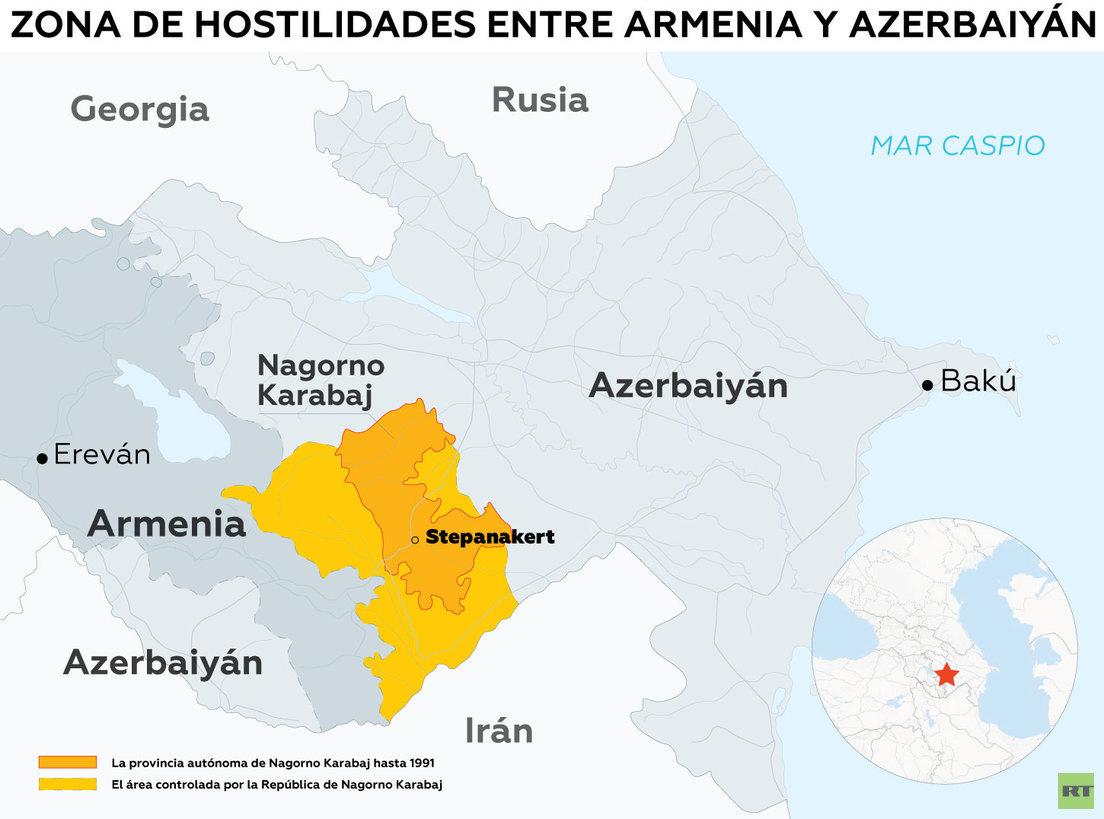 Movilizaciones, estado de guerra y acusaciones mutuas: ¿qué pasa entre Armenia y Azerbaiyán?
