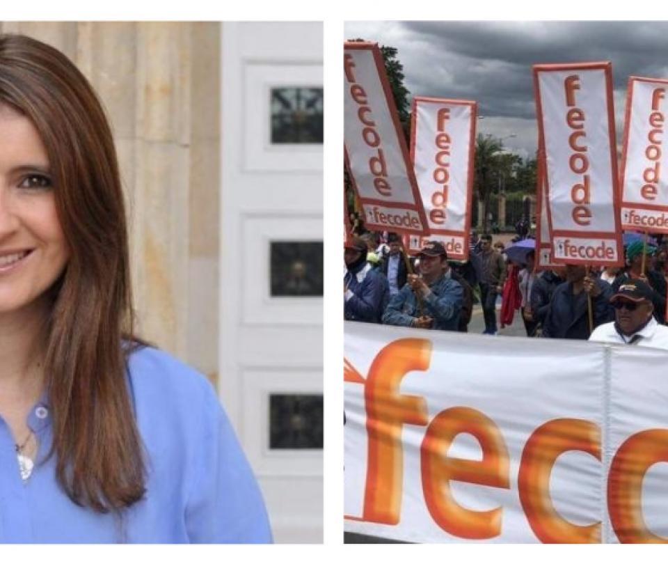 Rifirrafe entre senadoras Paloma Valencia y María Fernanda Cabal con Fecode - Partidos Políticos - Política