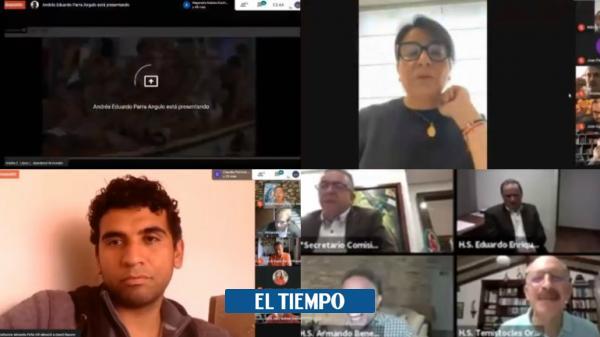 Videos: errores de congresistas colombianos en Zoom - Congreso - Política