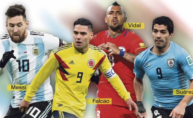 ¡El baile final! Messi, Suárez, Vidal y Falcao, listos para afrontar su última eliminatoria