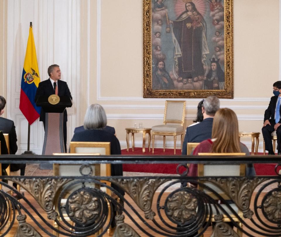 Alvaro Gómez: el contundente mensaje de Duque a exjefes de las Farc - Gobierno - Política
