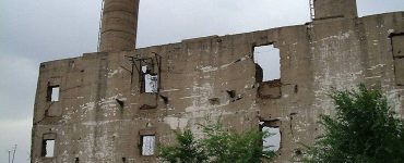 Ruinas de la sede del Escuadron 731.
