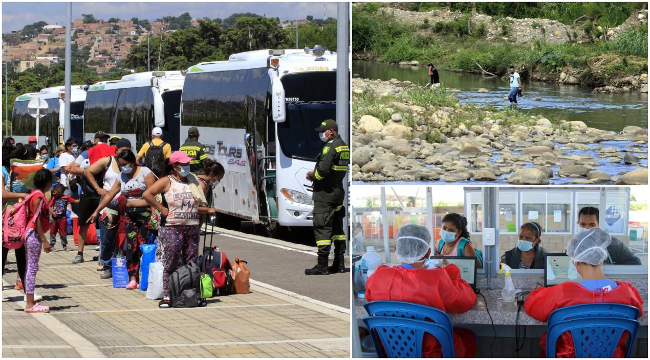 Para cruzar a Venezuela los retornados deben inscribirse en un puesto de la Organización Internacional para las Migraciones (OIM).