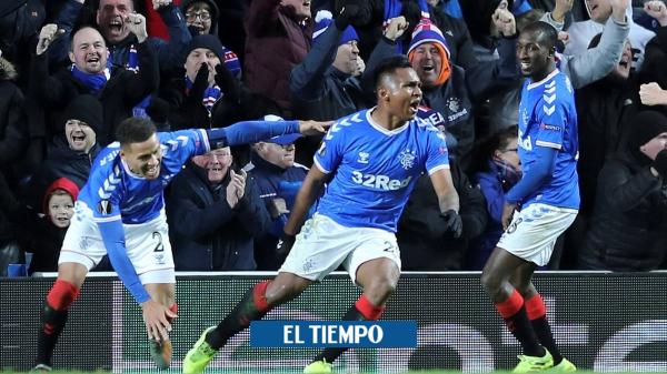 Gol de Alfredo Morelos con el Rangers en la Europa League contra Lech Poznan - Fútbol Internacional - Deportes