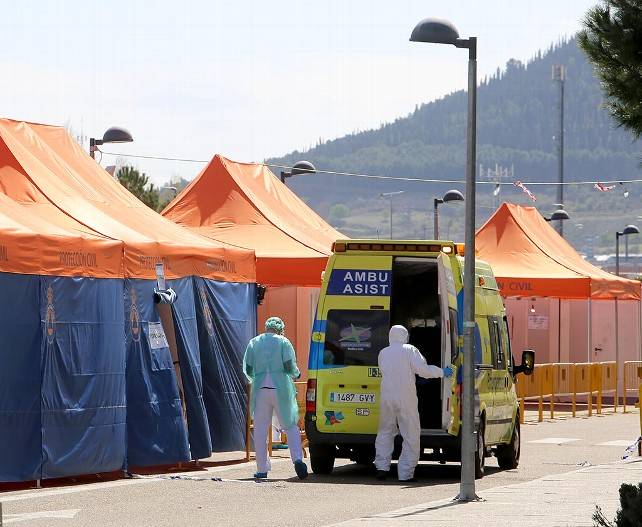 Hospital Río Hortega Valladolid carpas coronavirus Covid-19