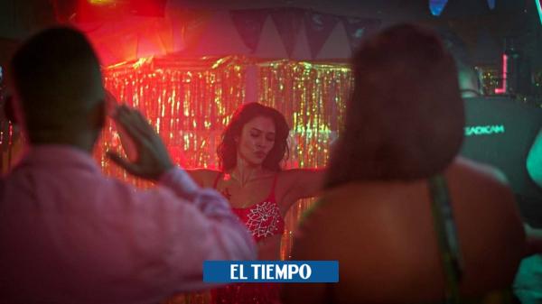 La actriz Martha Isabel Bolaños interpreta el papel de Amparo Arrebato en serie de televisión - Cali - Colombia