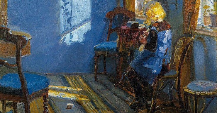"""La belleza del día: """"Sunlight in the Blue Room"""", de Anna Ancher"""