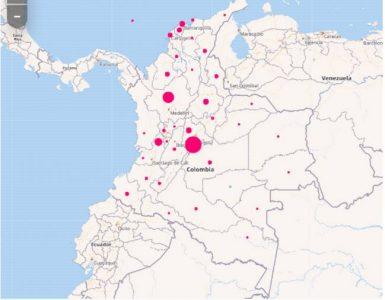 Mapa de casos y muertes por coronavirus por departamentos en Colombia: hoy, 19 de octubre