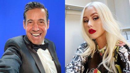 El productor del programa pasó por malos momentos con la cantante pues hizo diversos gestos que le hizo pensar que despreció a Otro Rollo (Foto: Instagram @yordirosadooficial / @xtina)