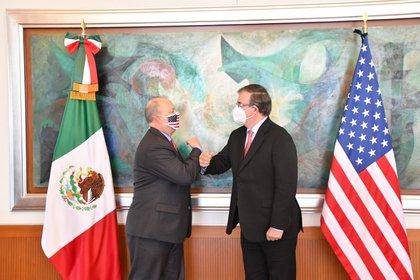 Marcelo Ebrard, secretario de Relaciones Exteriores, aseguró que México cumplirá con sus obligaciones jurídicas de pago de agua a Estados Unidos (Foto: SRE)