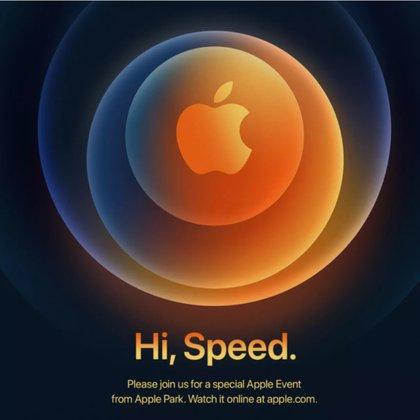 """""""Hola, velocidad"""", el lema del nuevo evento de Apple que se transmitirá desde las 10 AM (PDT) desde Cupertino, Estados Unidos."""
