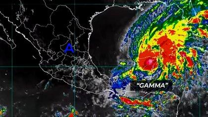 Tormenta Tropical Gamma provocará lluvias en Quintana Roo, Yucatán, Oaxaca, Tabasco y Veracruz (Foto: Youtube @smnmexico)