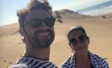 Iván Sánchez y Lydia Cacho, amigos