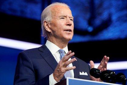 El presidente electo de Estados Unidos, Joe Biden, anuncia el equipo de seguridad nacional en la sede de su equipo de transición en Wilmington, Delaware, EEUU, Noviembre 24, 2020. REUTERS/Joshua Roberts