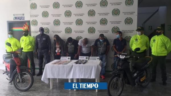 Capturan integrantes de banda delincuencial que comercializaba estupefacientes a domicilio - Cali - Colombia