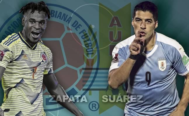 Duván Zapata y Luis Suárez, el duelo goleador del juego entre la Selección Colombia y Uruguay