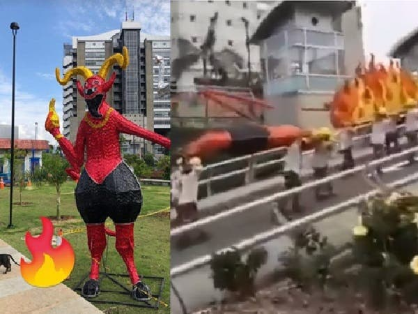 """El lío en Medellín por la figura del """"Diablo de Riosucio"""" en alumbrado navideño; alcalde pide que la vuelvan a instalar"""