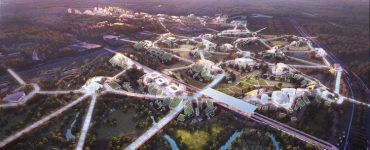 """MVRDV presenta """"Sky Valley"""", la ciudad de ciencia y tecnología del futuro en Chengdu, China, © ATCHAIN"""