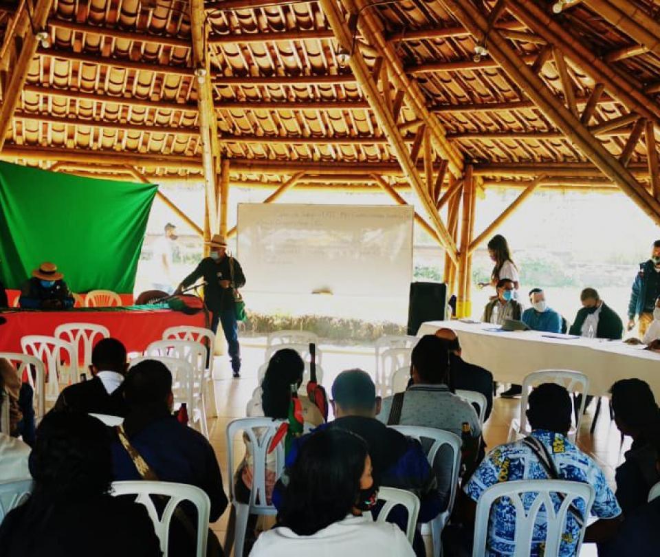 Reunión entre alto Comisionado para la Paz y la Cric - Cali - Colombia