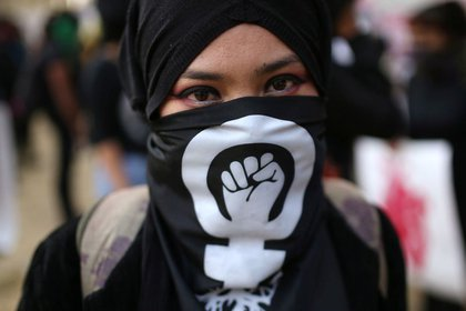 SSPC e Inmujeres llamaron a evitar la represión y revictimización de las víctimas  durante las manifestaciones por el #25N (Foto: REUTERS/Luisa Gonzalez)