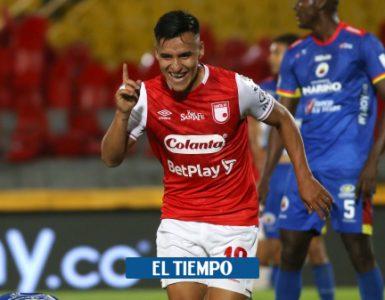 Santa Fe con goles de Velásquez vence a Pasto 2-0 y clasifica a la semifinal de la Liga Betplay - Fútbol Colombiano - Deportes